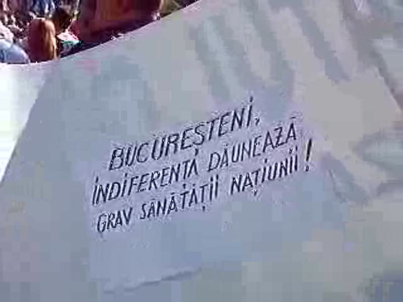 BNS - video de la marsul de protest din Bucuresti 28 septembrie 2010 (3)