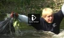 Boris Johnson, in raul Pool - captura BBC