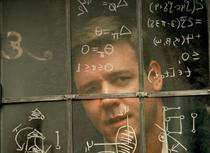 "Actorul Russell Crowe interpretandu-l pe Nash in ""A Beautiful Mind"""