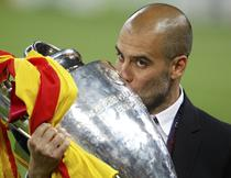 Guardiola si trofeul Champions League