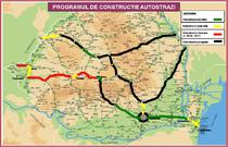 Harta autostrazilor care vor fi construite in Romania