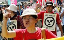 Protest anti-nuclear in Hiroshima (6 august 2011)