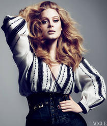 Adele pe coperta Vogue US: Romanian Blouse by Tom Ford