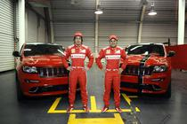 F. Alonso si F. Massa alaturi de Jeep Grand Cherokee SRT8