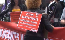 Protest al prostituatelor in Paris