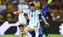 Lionel Messi, in tricoul Argentinei