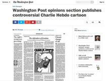 Caricatura Charlie Hebdo in Washington Post