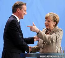 David Cameron si Angela Merkel