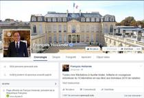 Pagina de Facebook a lui Hollande