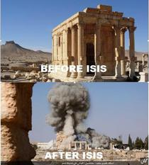 Templul distrus in Palmyra