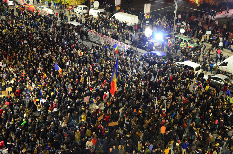 New wave of massive protests in Bucharest and other cities as Romanians show prime minister's resignation is not enough in wake of nightclub fire disaster