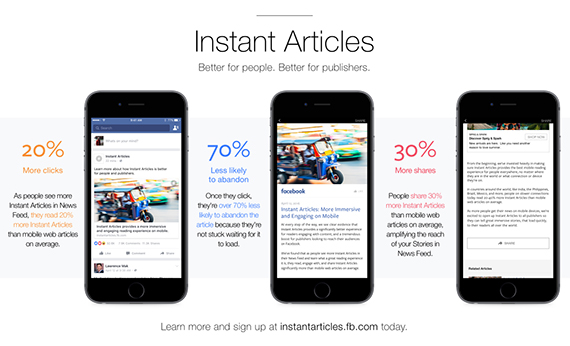 Statistici Facebook Instant Articles