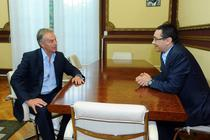 Tony Blair si Victor Ponta la Bucuresti