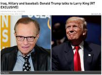 Donald Trump la Larry King/RT