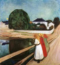 """Girls on the Bridge"", de Edvard Munch"