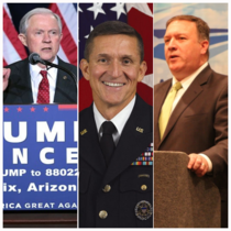 Jeff Sessions, Michael Flynn, Mike Pompeo