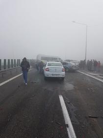 Accident in lant pe A2