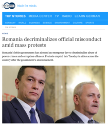 Deutsche Welle despre protestele din Romania