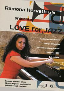 'Love for jazz' cu Ramona Horvath trio