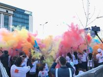 Finalul cursei The Color Run