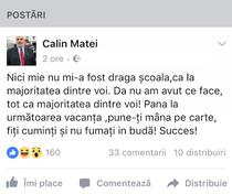 Postare Calin Matei