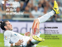 Gareth Bale, inca o accidentare
