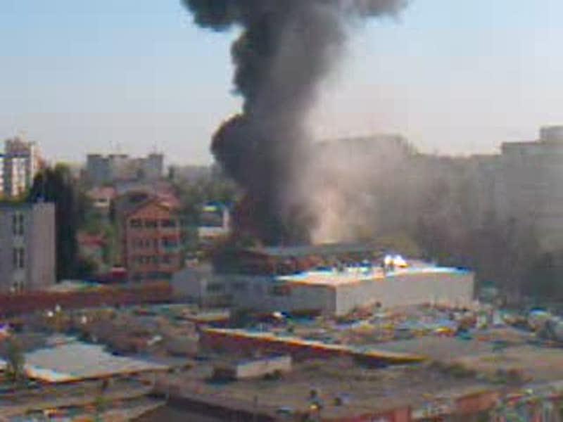 Incendiu in Piata Gorjului