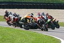 Schumacher cazand pe pe motocicleta