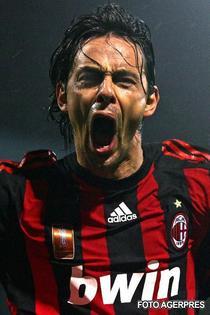 Inzaghi, bucurandu-se dupa un nou gol decisiv