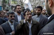 Ahmadinejad, in timpul mitingului de la Teheran