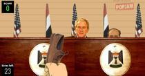Bush, atacat virtual cu pantofi