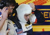 Fernando Alonso scapa nevatamat din accident