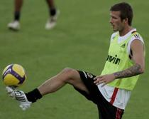 Beckham, prima infatisare in tricoul lui Milan