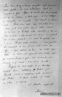 Scrisoarea lui Mihai Eminescu