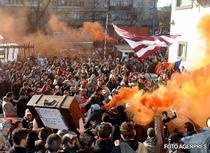 Fanii s-au dezlantuit la stadionul Rapid