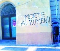 FOTOGALERIE Mesaje xenofobe impotriva romanilor din Italia