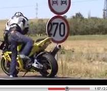 Cu motocicleta, viteza legala 270/ora :)
