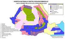 Harta perimetrelor de explorare petroliera din Romania