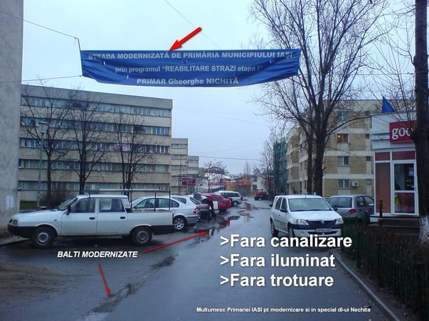 Strada modernizata in Iasi