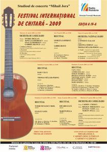 Programul Festivalului international de chitara 2009