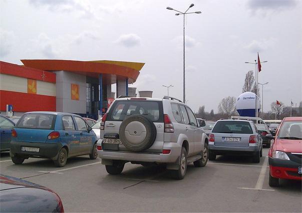 Cum se parcheaza la Carrefour
