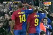 Eto'o si Henry, instructie pe Camp Nou