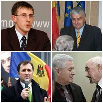 Dorin Chirtoaca, Serafim Urechean, Vlad Filat si Vladimir Voronin cu Igor Smirnov