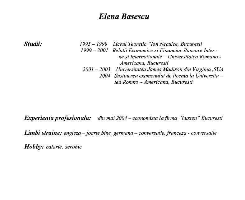 elena basescu a studiat in regim part