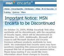 Microsoft retrage Encarta dupa 16 ani de la lansare