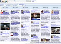 News Timeline, de la Google
