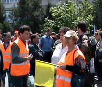 Protestul feroviarilor din capitala