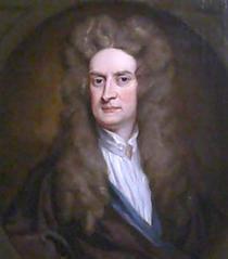 Isaac Newton, pictat de G. Keller (1702)