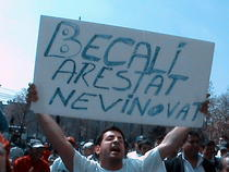 Galerie foto: Protest pentru eliberarea lui Gigi Becali