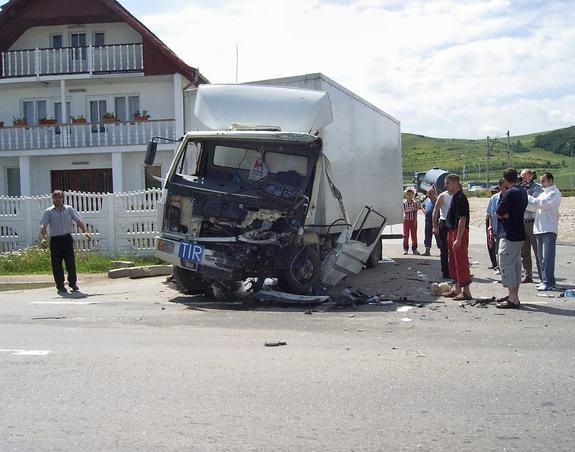 Accident cu final norocos